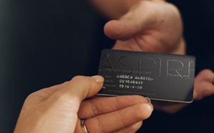 Black Aspire Lounge card by Executive Lounges