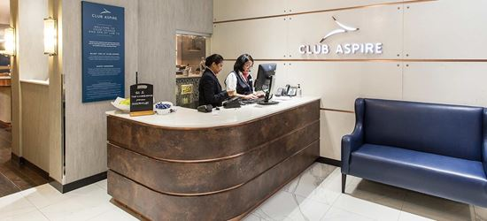 The Club Aspire Airport Lounge in London Heathrow Airport Terminal 3