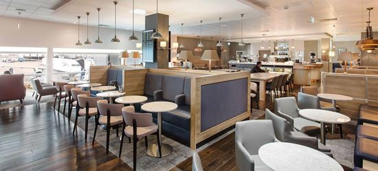 The Dining Area of the Club Aspire Airport Lounge in London Heathrow Airport Terminal 3