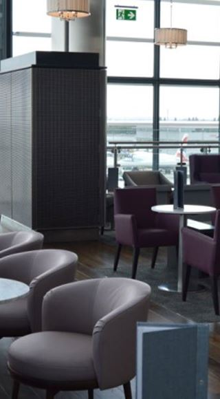 Seating Area of the Aspire Airport Lounge in London Heathrow Airport Terminal 5