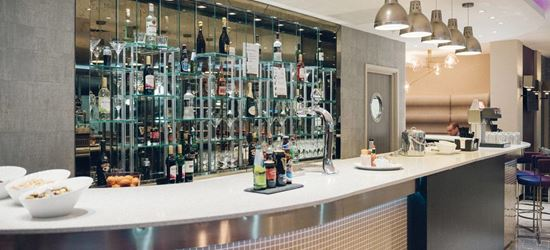 The Bar of the Aspire Airport Lounge in London Luton Airport