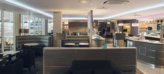 The Dining Area of the Aspire Airport Lounge in London Luton Airport