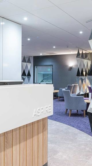 The Front Desk At Aspire Airport Lounge at Manchester Airport T2