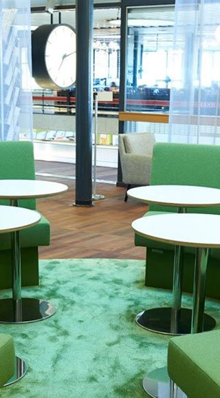 The Seating Area of the Aspire Airport Lounge in Copenhagen Airport