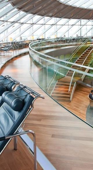 Seating Area of the Skyview Airport Lounge in Basel Mulhouse Freiburg EuroAirport