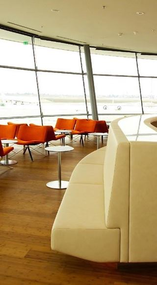 Seating Area of the VIP Airport Lounge in Graz Airport
