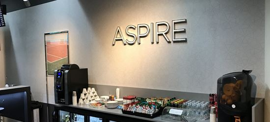 Food and drink at the Aspire Aphrodite Lounge in Larnaca Airport