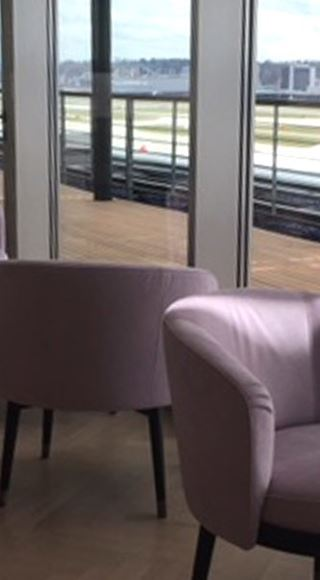 Seating area of the Aspire Airport Lounge at Zurich International Airport