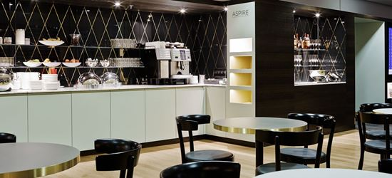 Food and Drink at the Aspire Airport Lounge at Zurich International Airport