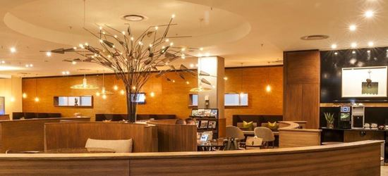 Seating area at the Aspire Airport Lounge in O R Tambo International Airport