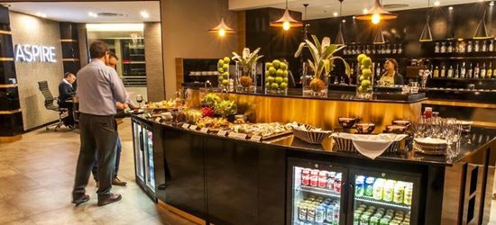 Complimentary food at the Aspire Airport Lounge in O R Tambo International Airport