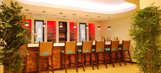 The bar at the Club Kingston Airport Lounge in Norman Manley International Airport