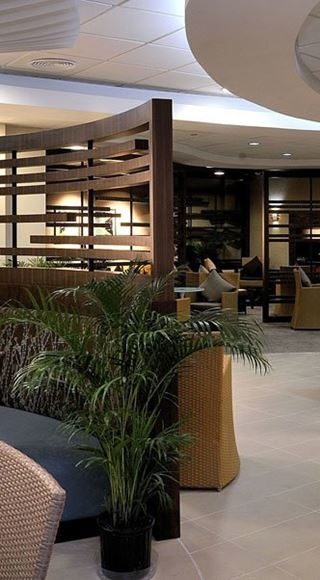 Seating area at the Club Mobay Airport Lounge in Montego Bay International Airport