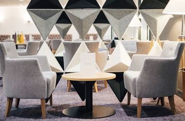 Chairs at an Aspire Airport Lounge by Executive Lounges