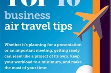 Top 10 Business Travel Tips infographic