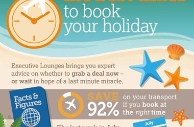 The Best Time to Book a Holiday infographic