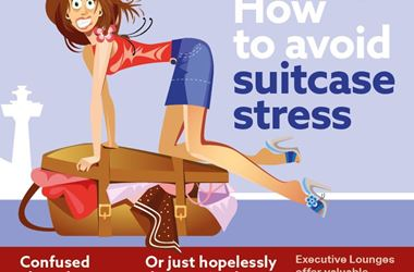 How to Avoid Suitcase Stress infographic