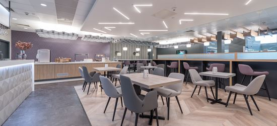 The Dining Area of the Aspire Airport Lounge in Liverpool John Lennon Airport