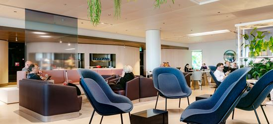 Guests Relaxing The Amsterdam Schiphol Airport Lounge