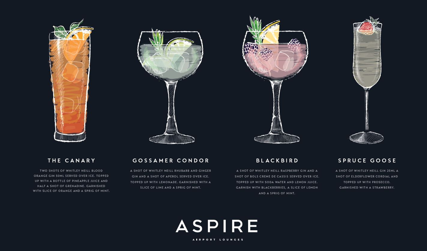 Liverpool Aspire Lounge Cocktails