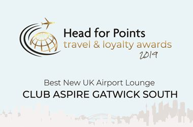 Gatwick Club Aspire named Best New UK Airport Lounge 2019