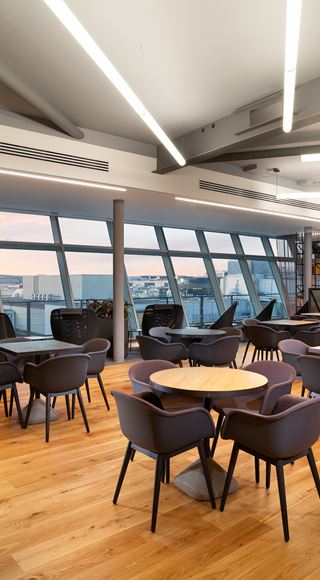 Seating area at the new Club Aspire Lounge Gatwick Airport South Terminal