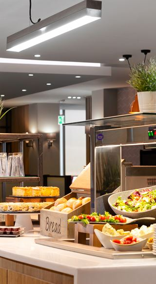 Complimentary food at the Club Aspire Lounge Gatwick Airport North Terminal