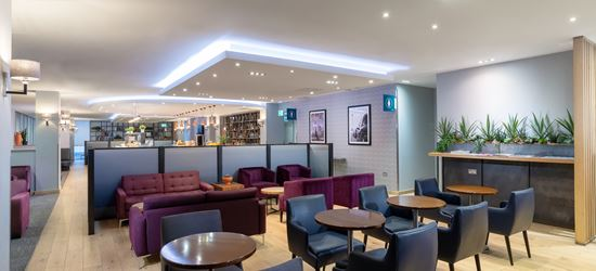 Seating area at Club Aspire Lounge Gatwick Airport North Terminal